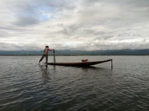 A fisherman on Inle Lake.